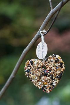 25 Rustic Birdseed Wedding Favors: Bird Seed Favor Hearts (Medium Size) Love Birds Tags Available