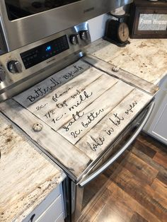 Rv Hacks Discover Noodle board / stove cover stovetop cover boards for stove farmhouse stove cover farmhouse sign / stove board Farmhouse Remodel, Farmhouse Kitchen Decor, Diy Kitchen, Kitchen Ideas, Modern Farmhouse, Kitchen Designs, Kitchen Backsplash, Kitchen Counters, Kitchen Reno