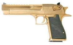 "Helotes Tactical Firearms | Magnum Research Desert Eagle MK19 44MAG 6"" Gold/Titanium"
