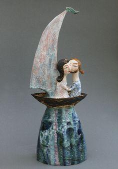 Clay figurine artists from Abramtsevo-- Elya Yalonetskaya