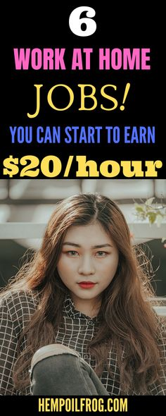 6 work at home jobs you can start to earn $20 per hour. Work at Home Jobs That Pay Weekly 6 Online Jobs That Pay Weekly. Legitimate Work at Home Jobs that Pay Weekly. Legit Online Jobs Pay Weekly Cash How To Make Money Online With CBD Oil Business Home Based Jobs, Work From Home Companies, Online Work From Home, Work From Home Business, Work From Home Moms, Make Money From Home, Way To Make Money, Make Money Blogging, Make Money Online