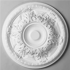 19 Acanthus Leaf Egg Border Ceiling Medallion 19 Acanthus Leaf Egg Border Ceiling Medallion: A ceiling medallion adds an exquisite crownin Molding Ceiling, Roof Ceiling, Ceiling Decor, Crown Molding, Moulding, Simple False Ceiling Design, Best False Ceiling Designs, Farmhouse Dining Room Lighting, Ceiling Medallions