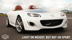 "To celebrate the Miata's 20th anniversary and our core values, we debuted what was called a ""radical expression of the cult roadster"": the MX-5 Superlight concept car. With no windshield, speakers, door handles and other frivolities, this 2,200 lb lightweight is a pure representation of sporty driving."
