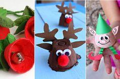 15 bricolages de Noël pour enfants, à faire avec des cartons d'oeufs!
