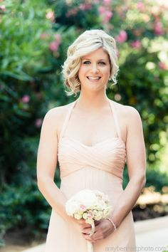 Short hair bridesmaid wedding style idea by Suzanne Morel! Esperanza Resort