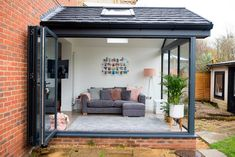 Our Modern Conservatory Extension- Before and After (Home Renovation Project - Mummy Daddy Me Orangerie Extension, Extension Veranda, Conservatory Extension, House Extension Design, House Design, Living Room Extension Ideas, Garage Design, Loft Design, Orangery Extension Kitchen