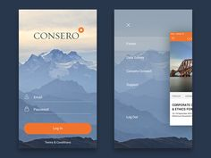 Hi there! Shot for Consero - login and menu. Don't forget to check 2x Have a nice day!