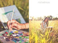 cool idea for an artsy senior!