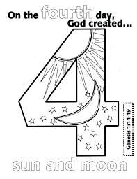 the first day of creation coloring pages - Google Search
