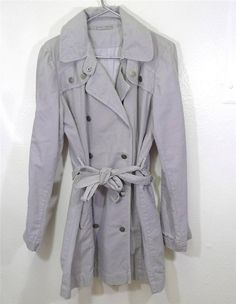 WOMEN JAMES PERSE double breasted belted trench coat size 4 (L/XL) #JamesPerse #Trench