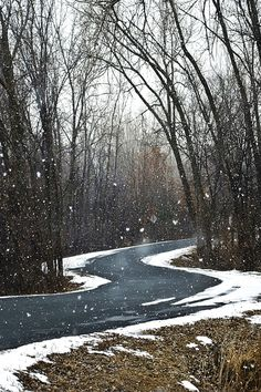 Snowy country road (by LAM- Photography)
