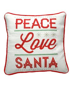 Take a look at this 'Love Santa' Fancy Pillow by Primitives by Kathy on #zulily today!