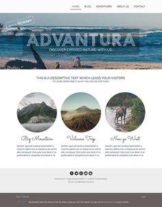 Logo and website design concept for travel business by designer petragurger. – Jimdo template: Miami – Visit their full site here: http://petraburger99.jimdo.com/