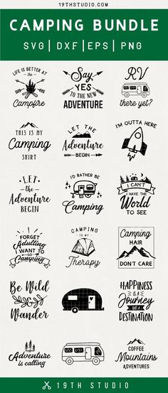 Camping SVG bundle Adventure SVG - Cricut T Shirts - Ideas of Cricut T Shirts - Love this Camping and Outdoors svg cut file bundle. Use it with Cricut or Silhouette machines for all of your vinyl decal diy craft projects! Mason Jar Diy, Mason Jar Crafts, 3d Laser Printer, Camping Bedarf, Glamping, Camping Outdoors, Camping Crafts, Diy Hanging Shelves, Wine Bottle Crafts