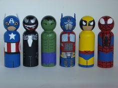 hero peg dolls