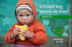 "Stiati ca, azi in Romania, 1 din 8 copii merge la culcare flamand? Si ca Romania este pe primul loc in Uniunea Europeana in ceea ce priveste mortalitatea copiilor sub 5 ani?  Ajuta un copil! Doneaza si tu! Alatura-te comunitatii noastre DONATORI DE VISE care sustine World Vision Romania in proiectul ""Copii sanatosi pt un viitor mai bun""   Mai multe detalii aici http://www.organicbaby.ro/donatori-de-vise.php"