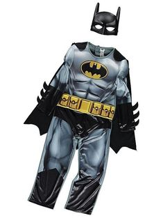 George DC Comics Black Batman Boys Fancy Dress Costume Outfit World Book Day Batman Fancy Dress, Boys Fancy Dress, Black Batman, Batman And Superman, Comic Clothes, Full Body Costumes, Kid Character, Gotham City, The Ordinary