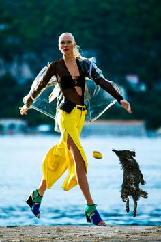 Yulia Lobova Gets Active for Bazaar Poland by Michelle Du Xuan