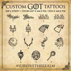 """Heading to #SDCC? Starting tomorrow, come #SurviveTheRealm at 628 L Street (across from the Omni Hotel), pledge your allegiance with some """"Westeros ink,"""" participate in interactive activities, win #GoT-themed prizes and more."""