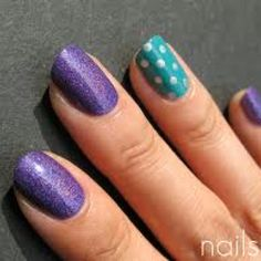 purple and turquoise nails