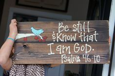be still and know reclaimed wood sign by SlightImperfections, $40.00