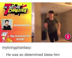 """In his live show: """"there's no time to f--- around. This is the 7 second challenge"""""""