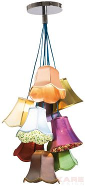 Lámpara De Suspención Saloon Flowers 9