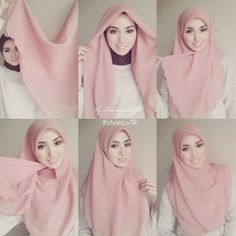 How to wear hijab pashmina Ideas for 2019 Tutorial Hijab Segi 4, Square Hijab Tutorial, Simple Hijab Tutorial, Hijab Style Tutorial, Scarf Tutorial, Cara Hijab, Hijab Chic, Hijab Mode Inspiration, How To Wear Hijab