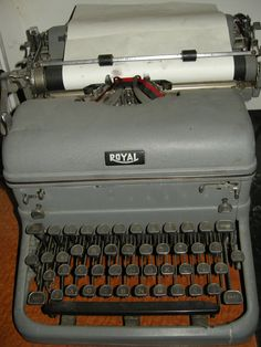 My old Royal from my newspaper days. It works, often better than my computer