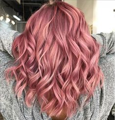Sophisticated rose gold hair color