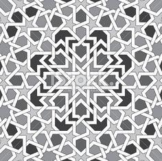 black and white islamic pattern Royalty Free Stock Vector Art Illustration