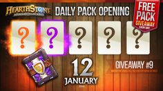 FREE Pack Giveaway #9 / 1 Legendary & 1 Epic Cards! Hearthstone Packs Op... Giveaway, Packing, Day, Youtube, Cards, Free, Bag Packaging, Maps, Playing Cards
