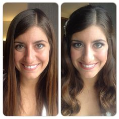 Before and after of bride, Jessica