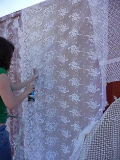 Lace container by JerseyArtsTrust, via Flickr
