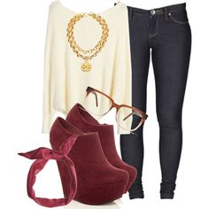 A fashion look from June 2013 featuring Dr. Denim jeans, Chanel necklaces and Madewell eyeglasses. Browse and shop related looks.