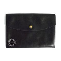 8713700e0d47 Black Vintage Pochette Rio Envelope Clutch Bag. A real vintage piece from  Hermes - dating. Lilac Blue