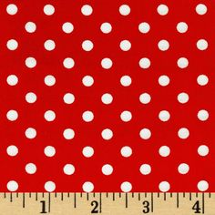 Michael Miller Dumb Dot Red from @fabricdotcom  Designed for Michael Miller Fabrics, this cotton print fabric is perfect for quilt or craft projects, apparel and home décor accents. Colors include white and red.