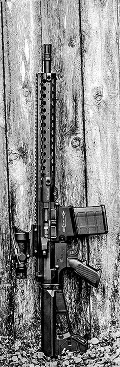 .308 Centurion Arms Carbine with Trijicon ACOG and Magpul accessories. By Stickman.