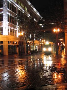 Downtown Portland at night <3