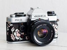 Yashica FX-D Quartz + Lens of choice! functional vintage 35 mm film SLR camera for lomography, Genuine Leather, Neckstrap & New Lightseals!