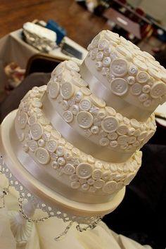 A Fairy Tale Wedding Button Cake