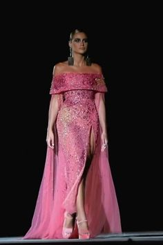 Couture Fashion, Runway Fashion, Prom Dress Couture, Lace Evening Gowns, Moda Chic, Stylish Dress Designs, Georges Hobeika, Glamour, Gala Dresses