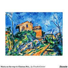 Maria on the way to Chateau Noir by Paul Cezanne Postcard