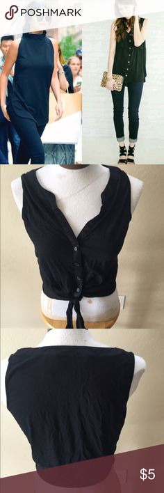 Inc international concepts black Sleeveless top m Soft simple Sleeveless black top you can dress up or down it really is a wardrobe staple size M from Macy\'s 🚫no trades🚫 Tops