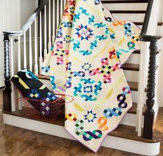 Boundless Blenders Aura Fabric & Ribbon Rainbow Pattern Quilt Kit - None