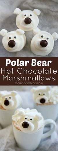 Kids will LOVE polar bear hot chocolate!!! So fun & easy to make!!!