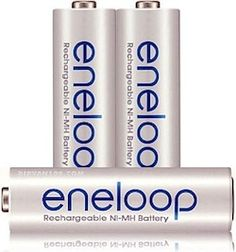 Apple's rechargeable batteries are Eneloops in different packaging.
