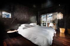 Habitación diseñada por Zumthor. Hotel en Vals.