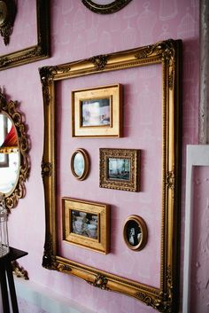 vintage frames, wall photo gallery