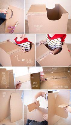 How to make a cardboard airplane 2
